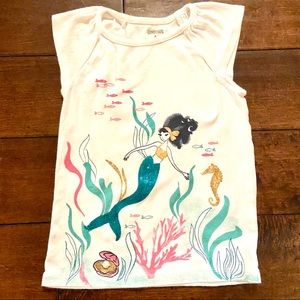 Gymboree Girls Mermaid Tee Size 5